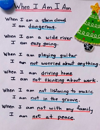 When I am I am