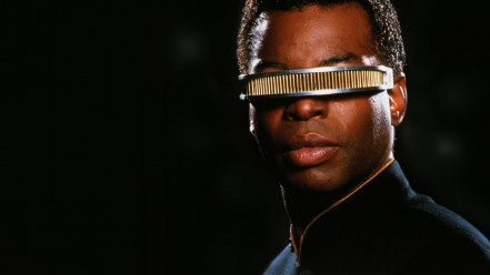LeVar Burton as Geordi LaForge from Star Trek: The Next Generation