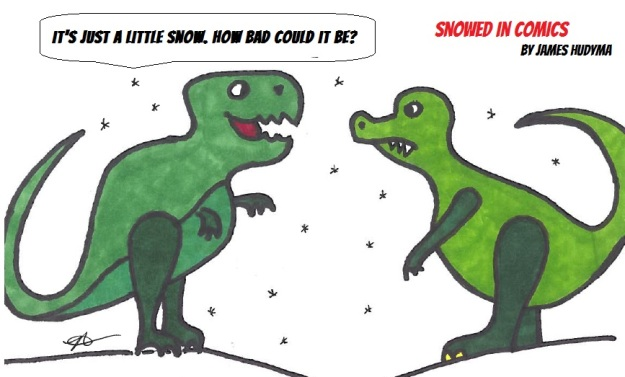 Dinosaurs go extinct winter comic