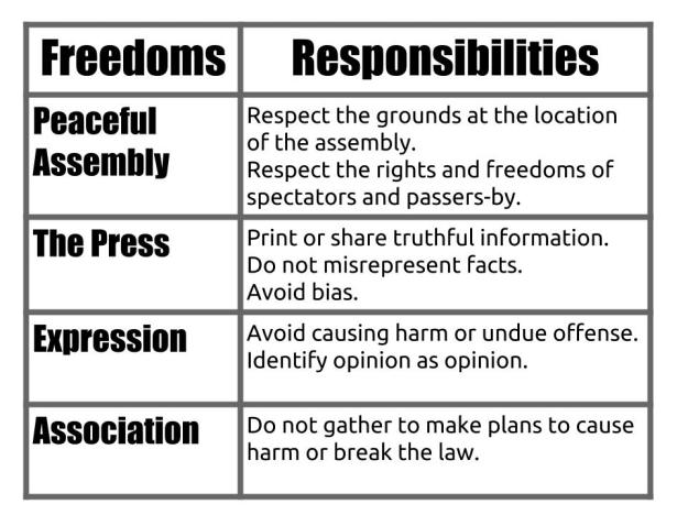 Freedoms and Responsibilities